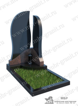 памятник из черного и красного гранита