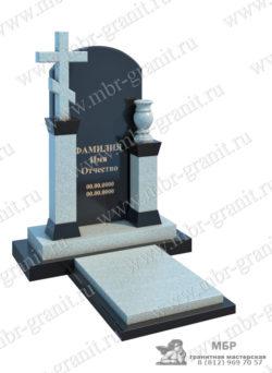Памятник из гранита в виде креста