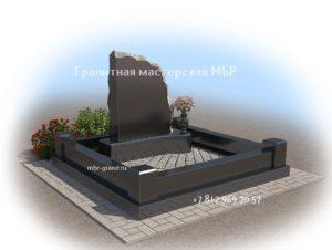 гранитный комплекс на кладбище