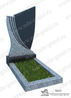 комбинированный гранитный памятник