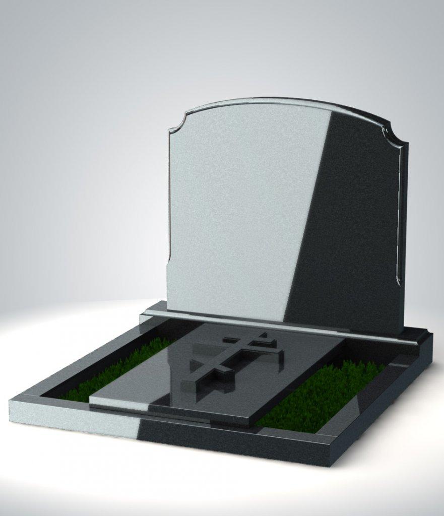 горизонтальный гранитный памятник