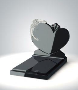 надгробие в форме сердца