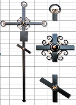 православный кованый крест