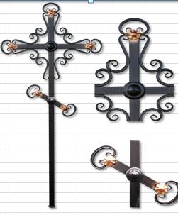 металлический крест на могилу