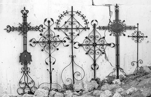 эскизы кованых крестов на могилу