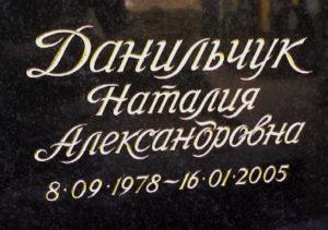 красивый шрифт на памятник