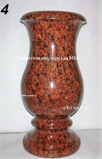 Гранитная ритуальная ваза