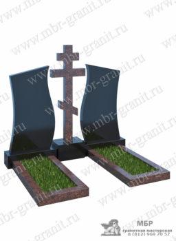 Памятник с крестом на двоих