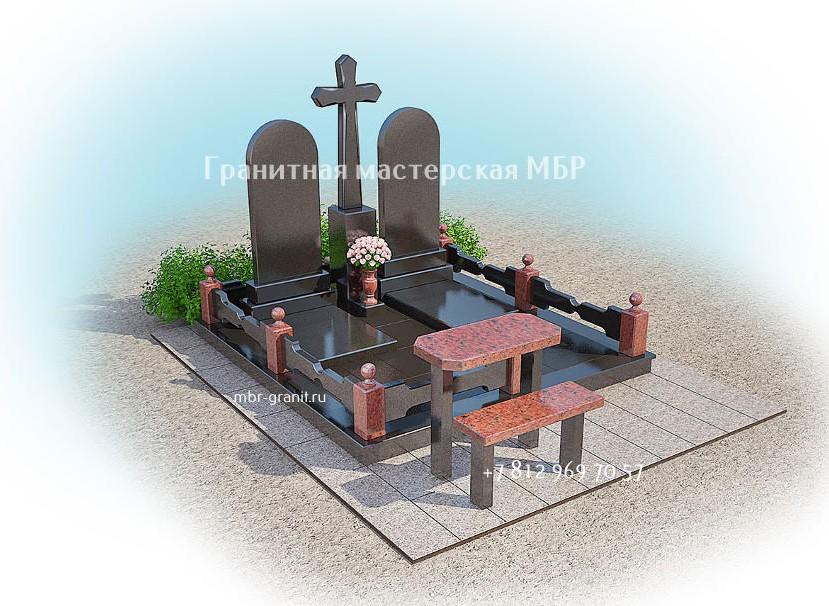 комплекс на могилу из гранита