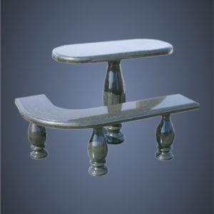 столик и лавочка из гранита