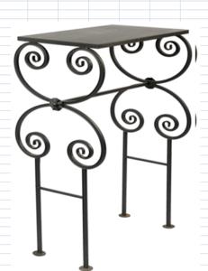 столик из металла на кладбище