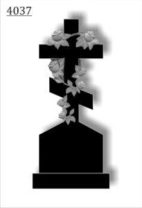 крест с розами